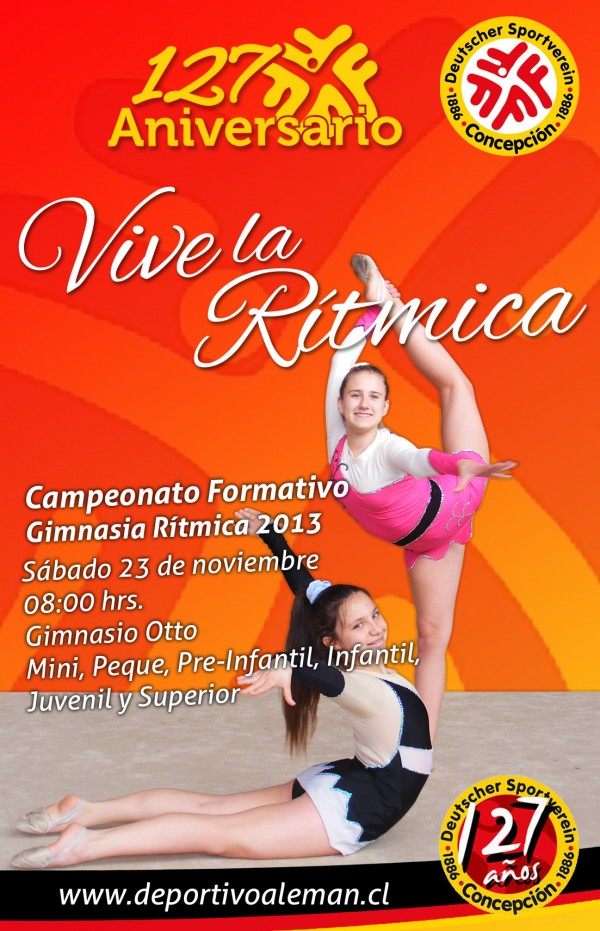 afiche de gala gimnasia ritmica