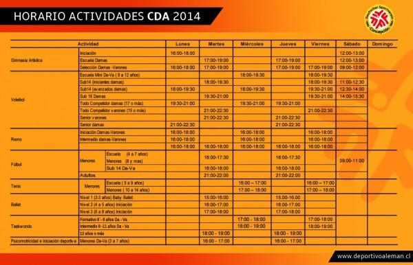 2horario actividades 2014 (2)