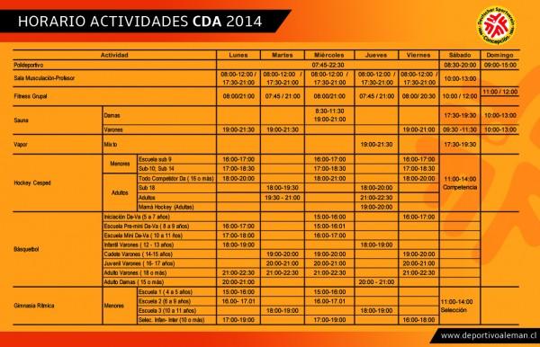 horario actividades 2014 (2)