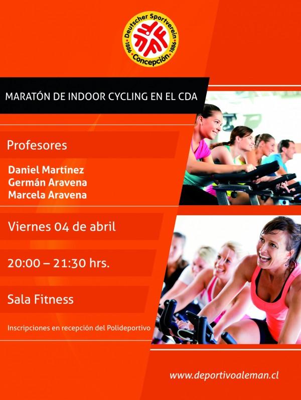 afiche maraton indoor cylcing 2014