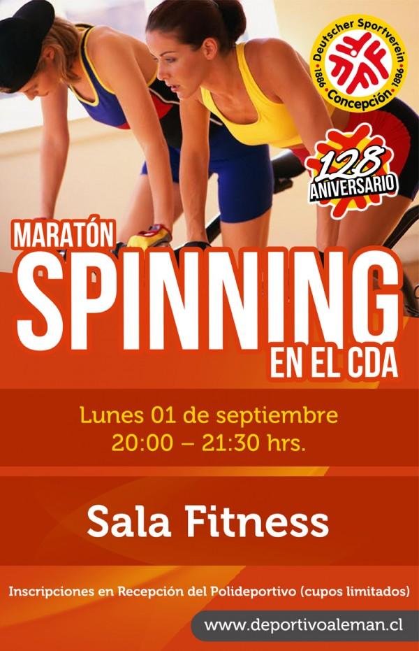 afiche maraton spinning copa aniv