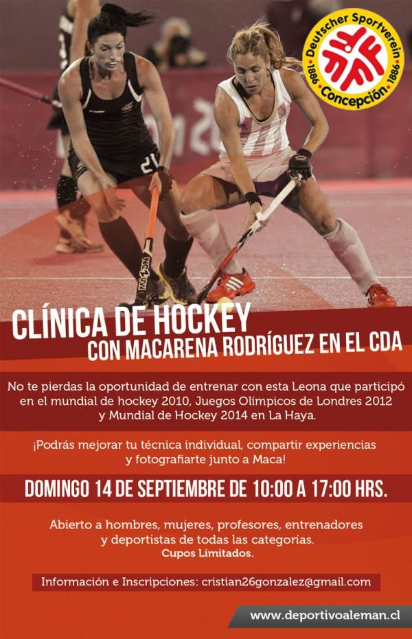 afiche clinica hockey