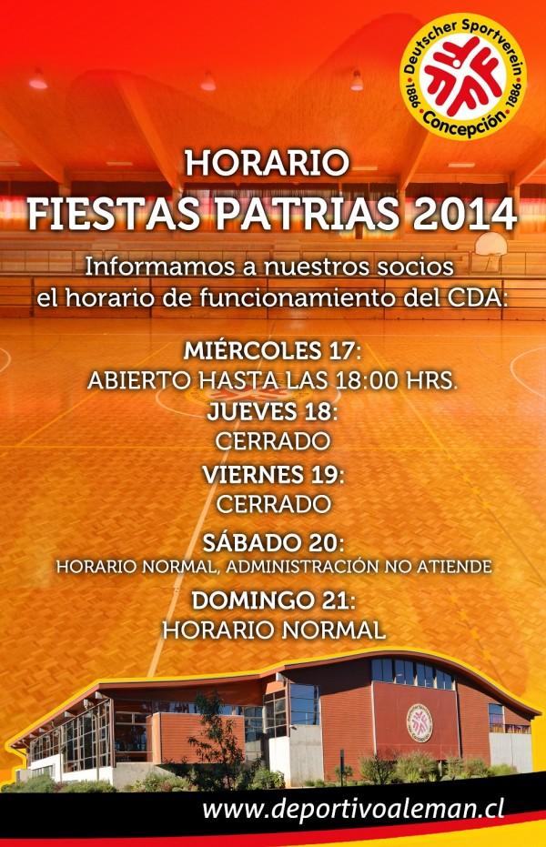 afiche horario fiestas patrias 2014