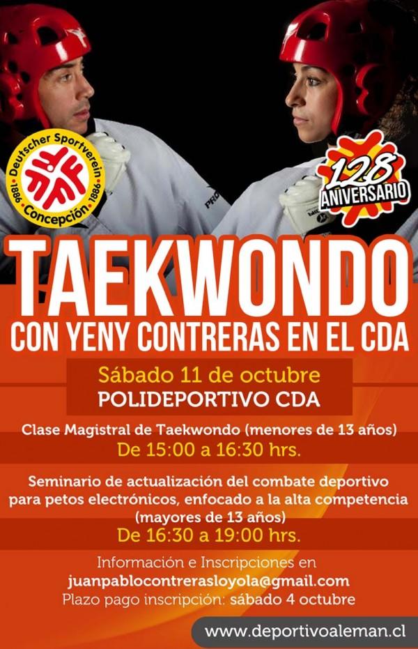 afiche taekwondo yeny