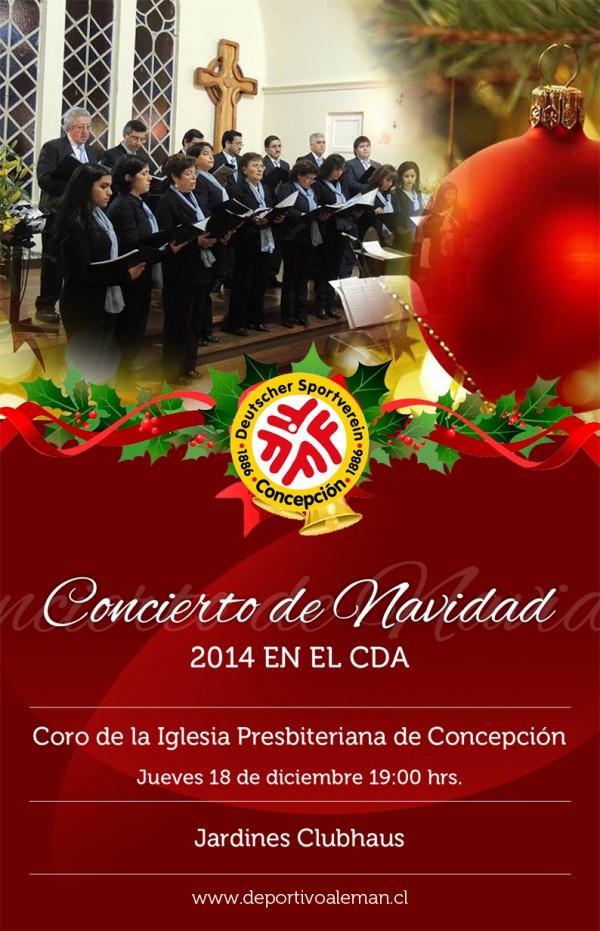 afiche concierto navidad 2014