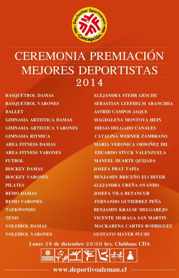 afiche premiacion 2014
