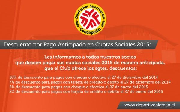 mailing cuotas sociales 2015