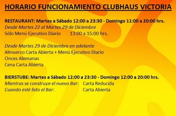 horario clubhaus