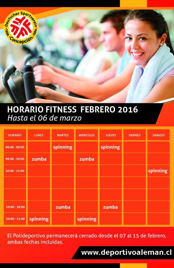 horario fitness2016