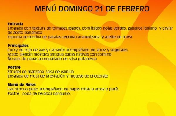 menu 21 feb