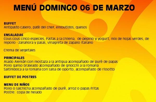 menu 06 marzo