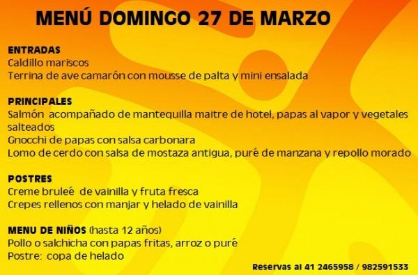menu 27 marzo