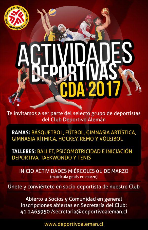 actividades deportivas 2017